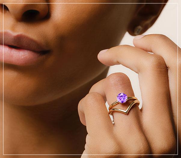 custom gemstone engagement rings